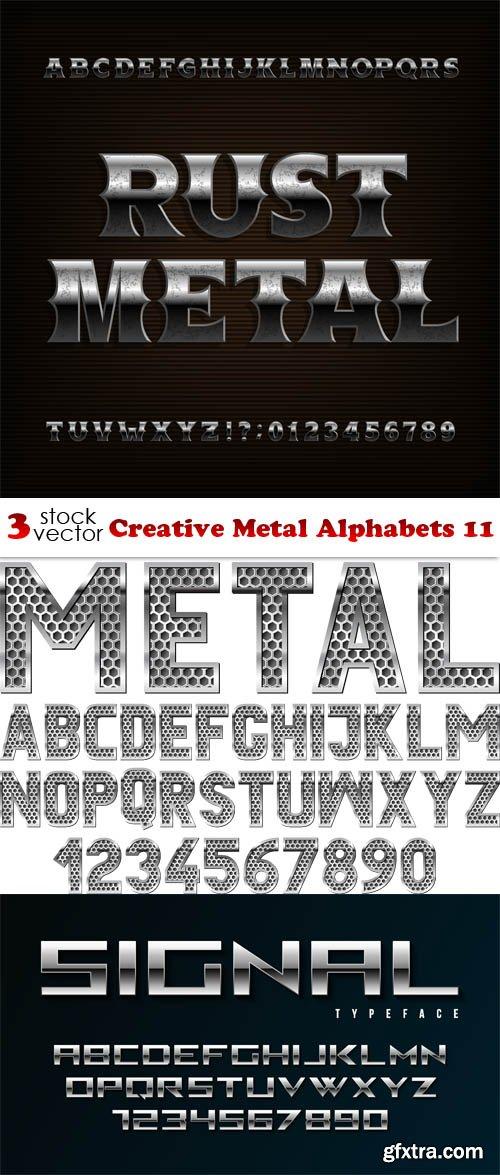 Vectors - Creative Metal Alphabets 11