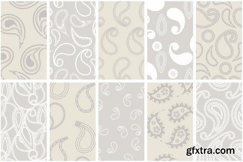 Modern Paisley Seamless Patterns