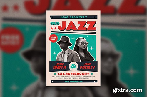 Old Jazz Music Poster