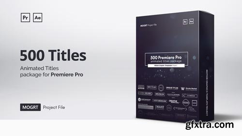 Videohive - Mogrt Titles - 300 Animated Titles for Premiere Pro & After Effects V4 - 21688149