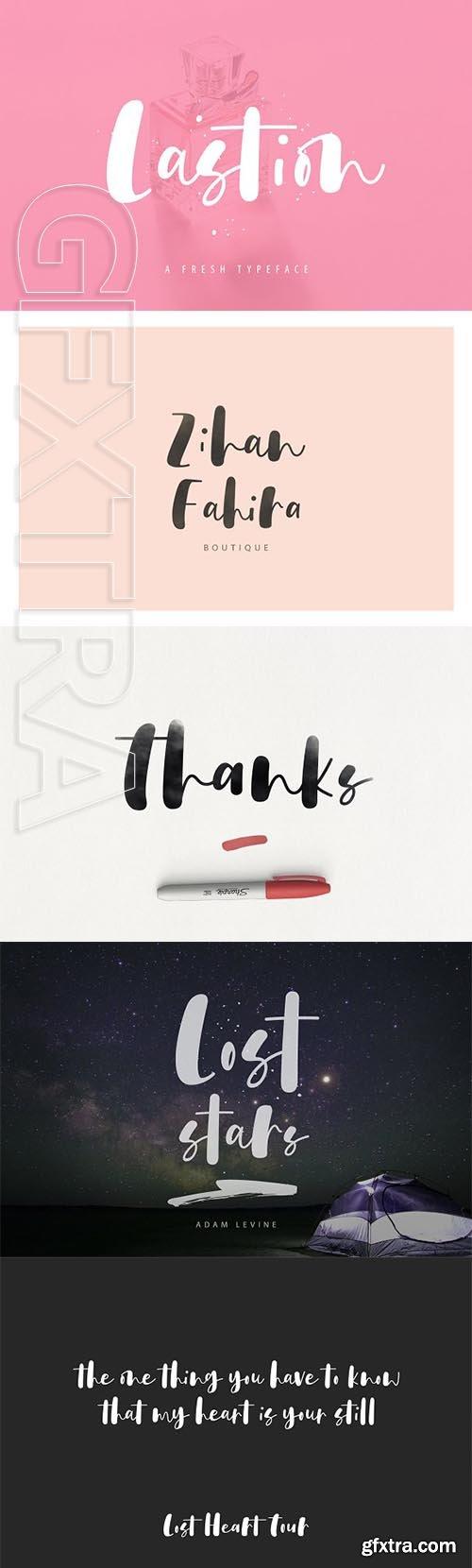 CreativeMarket - Lastion Typeface 2736335