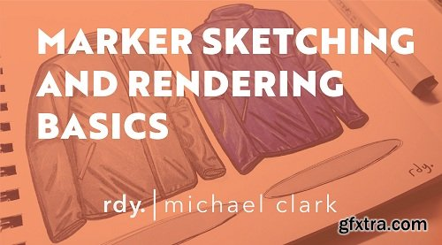 Marker Sketching and Rendering Basics - How To Sketch a Jacket or any soft goods!