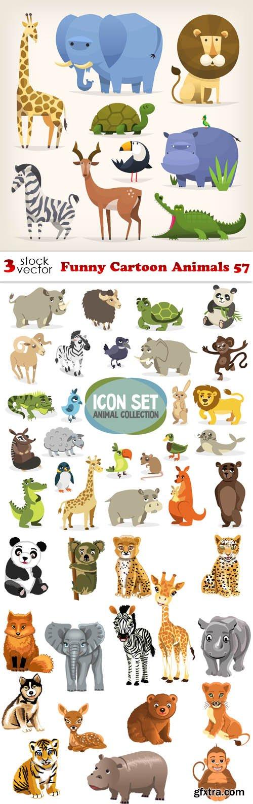 Vectors - Funny Cartoon Animals 57