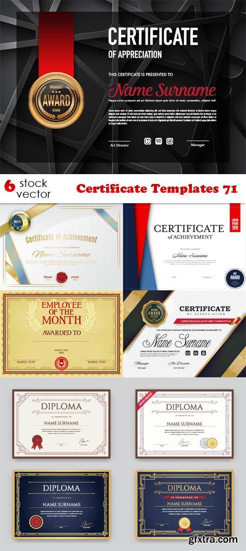 Vectors - Certificate Templates 71