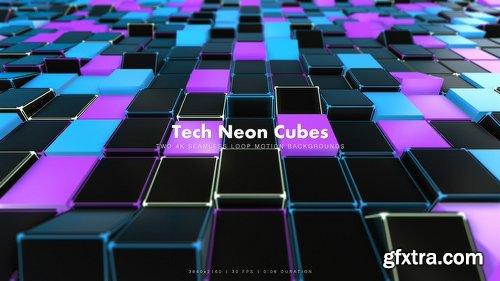 Videohive Tech Neon Cubes 2 20922445