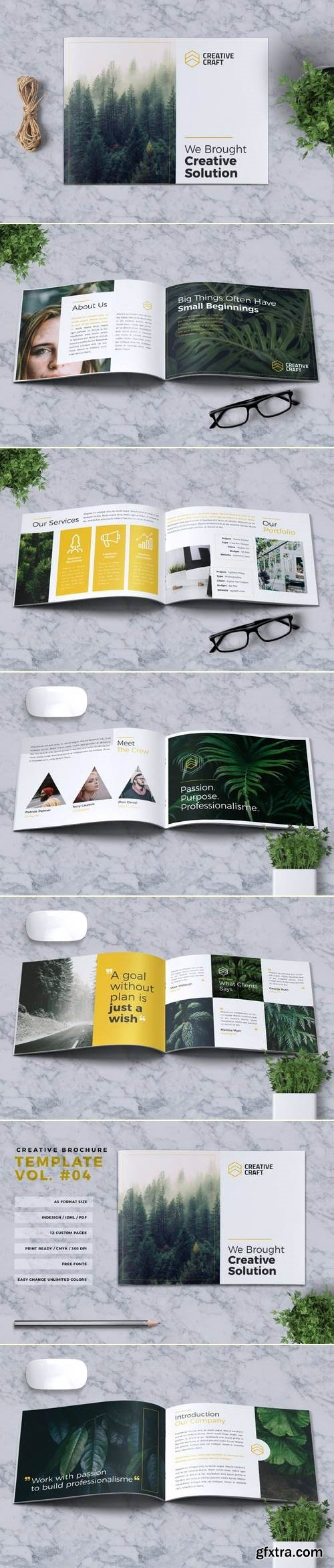 Creative Brochure Template A5 Vol. 04