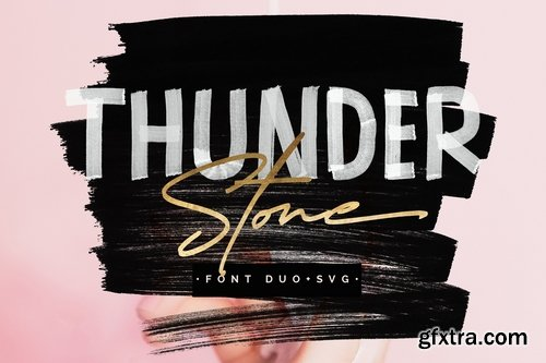 CM - Thunder Stone Font Duo+OpenSVG 2641780