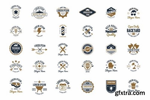 30 Vintage Logos and Badges Vol2