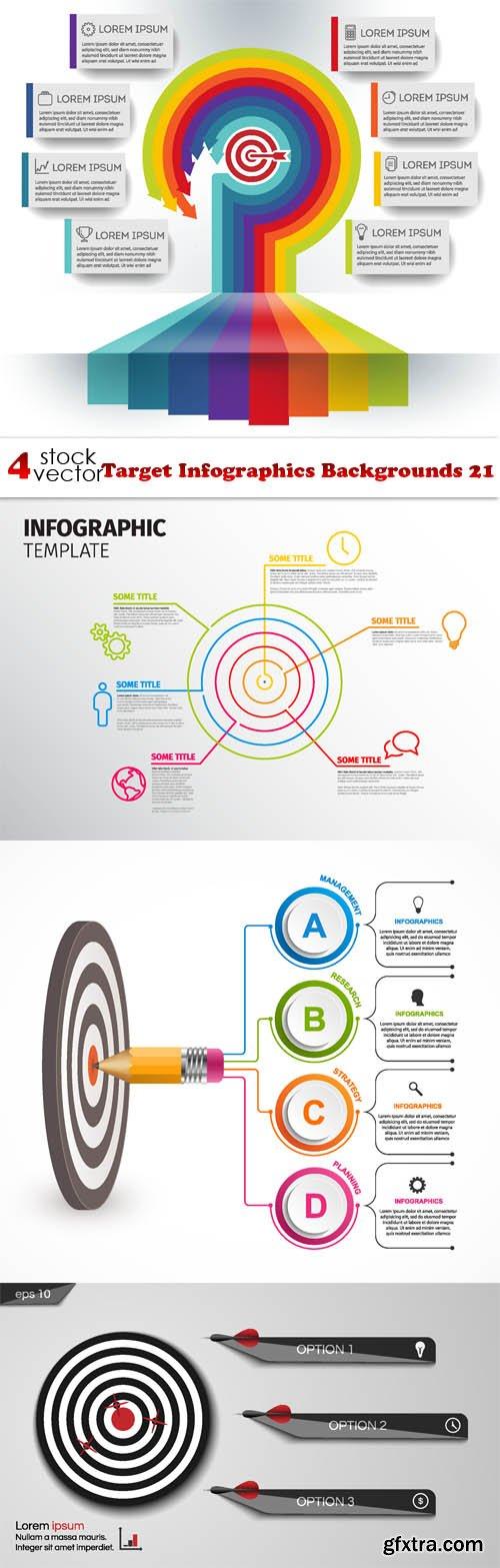 Vectors - Target Infographics Backgrounds 21