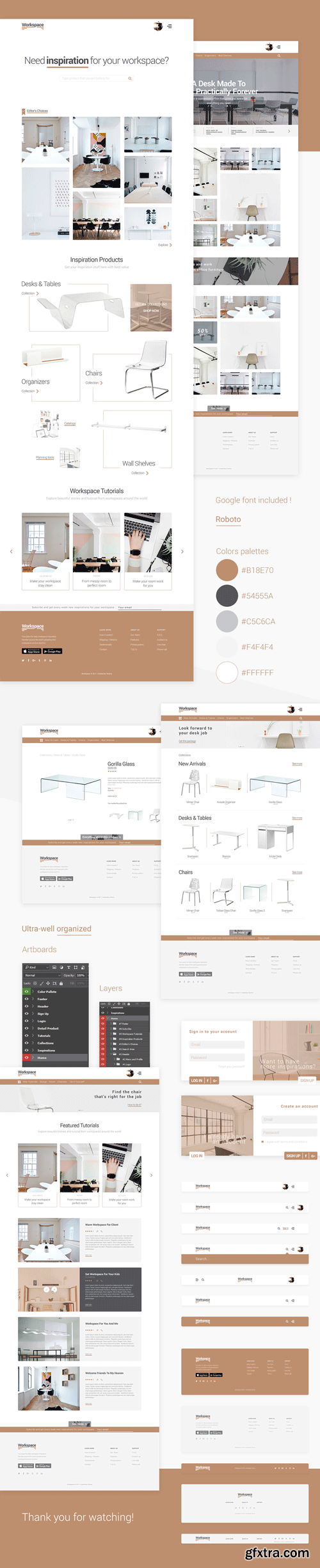 Workspace - E-Commerce PSD Kit