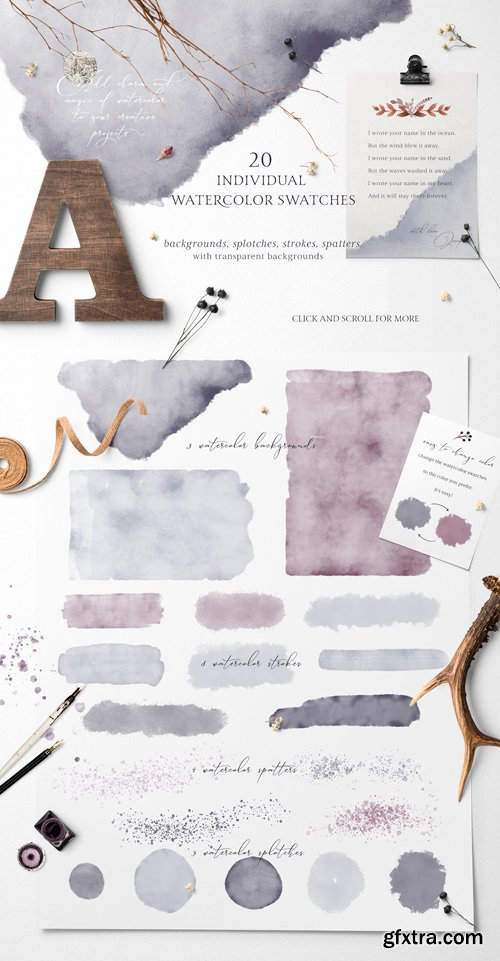 Folklore Watercolor Swatches