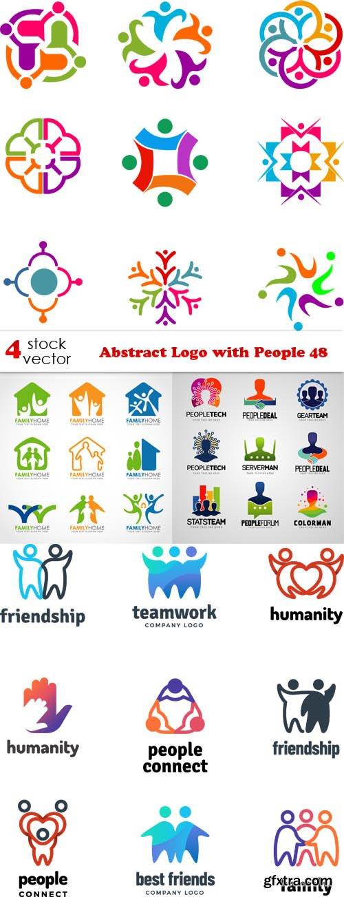 Vectors - Abstract Logo with People 48