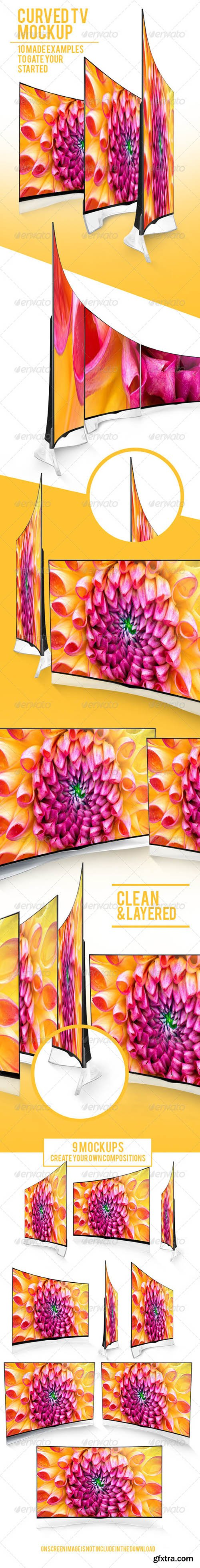 Curved TV Mockups Pack 7710035
