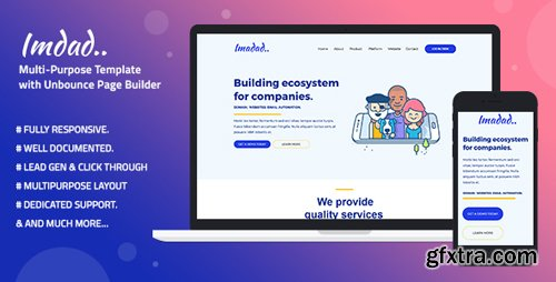 ThemeForest - Multi-Purpose Template with Unbounce Page Builder - Imadad (Update: 9 July 18) - 22194011