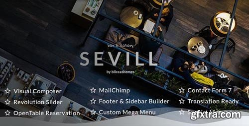 ThemeForest - Sevill v1.0.5 - Restaurant Cafe WordPress Theme - 21334449
