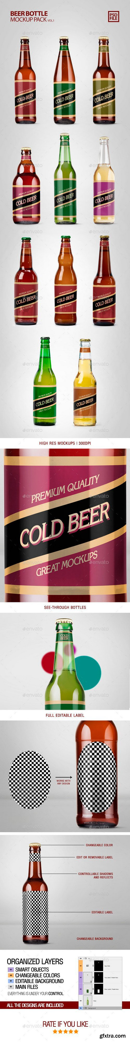 Graphicriver - 22063851 Beer Bottle Mockup Pack Vol1