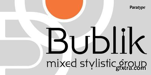 Bublik Font Family - 3 Fonts