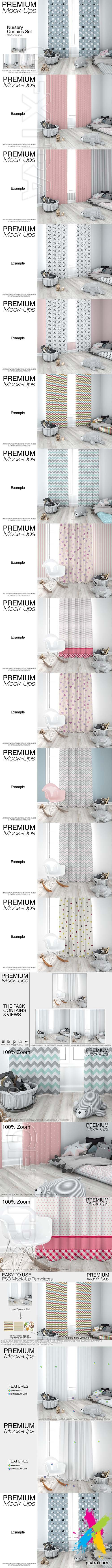 GraphicRiver - Kids Room Curtains Mockup Pack 22178332
