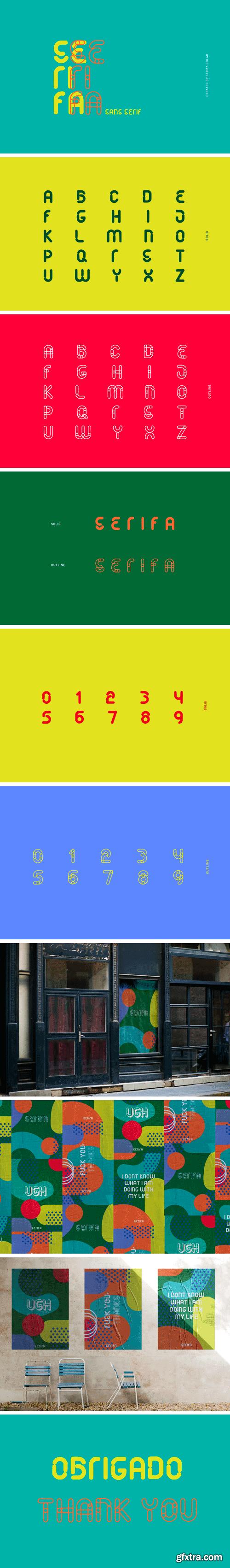 Serifa Sans Serif Font Family