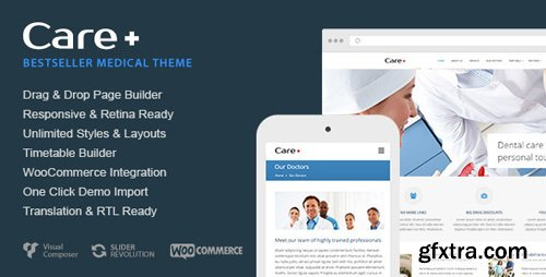 ThemeForest - Care v4.6.6 - Medical and Health Blogging WordPress Theme - 868243