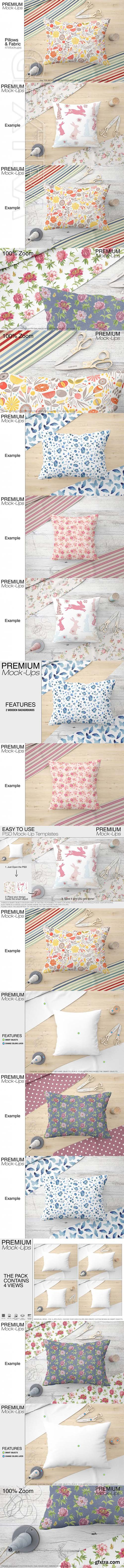 Two Types of Pillows & Fabric Set