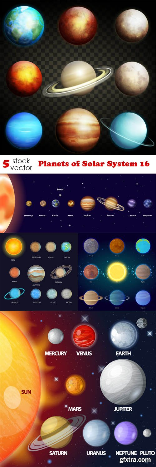 Vectors - Planets of Solar System 16
