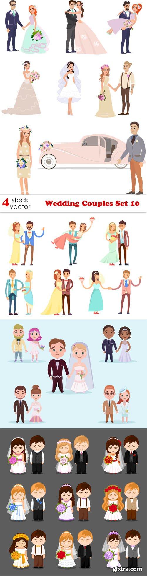 Vectors - Wedding Couples Set 10