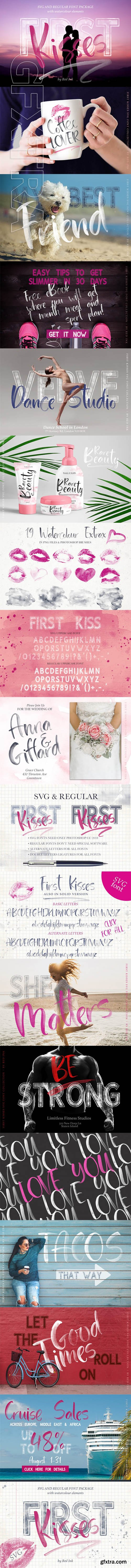 First Kisses SVG Font Collection