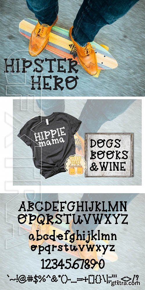 Hipster Hero A Trendy Hand-Lettered Font