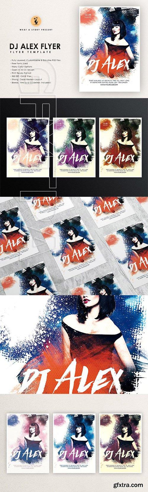 CreativeMarket - Dj Alex 2 Flyer 2708894