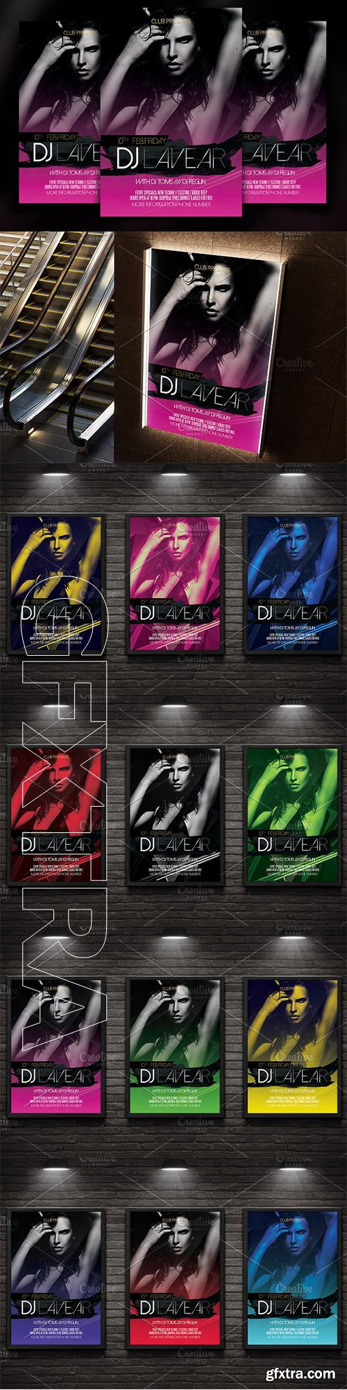 CreativeMarket - DJ Flyer Template 2708298
