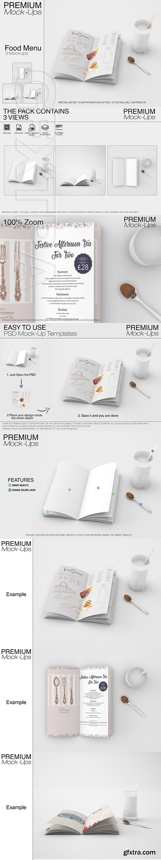 CreativeMarket - Food & Drink Menu Mockup Set 2599585