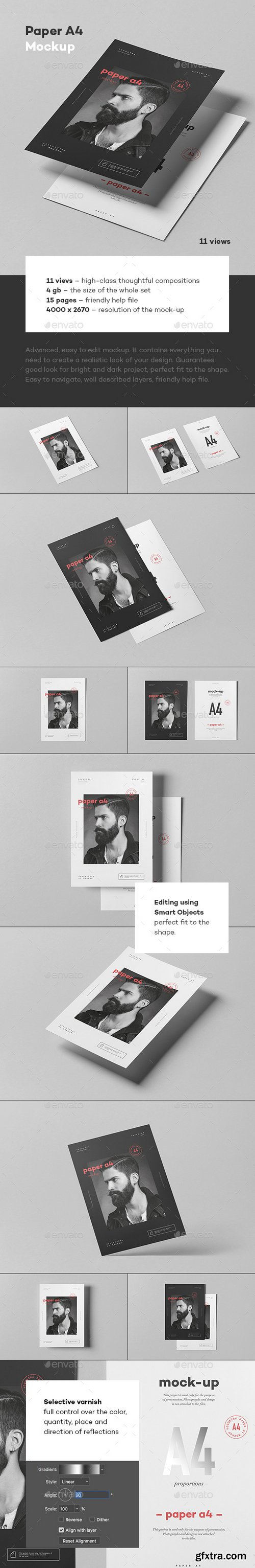 Graphicriver - Paper A4 Mock-up 22262923