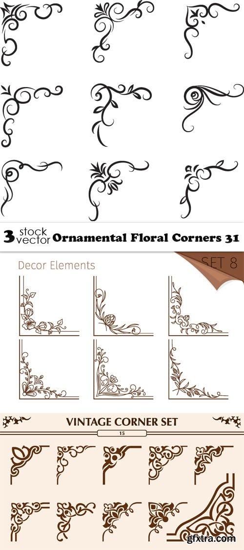 Vectors - Ornamental Floral Corners 31