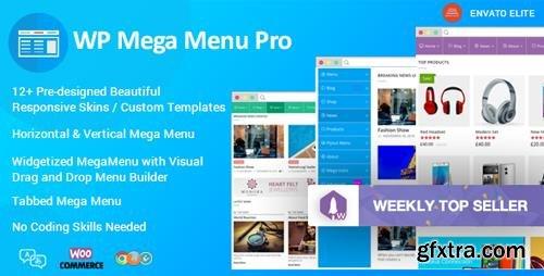CodeCanyon - WP Mega Menu Pro v1.1.2 - Responsive Mega Menu Plugin for WordPress - 19190840