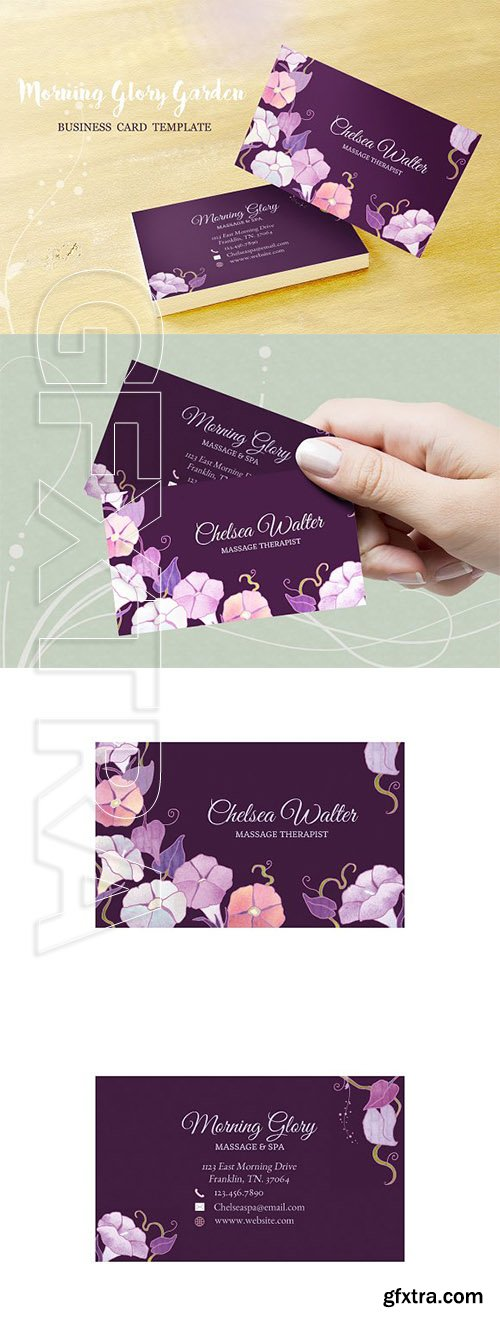 CreativeMarket - Morning Glory Business Card Template 2700462