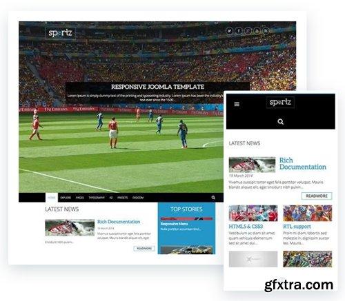 ThemeXpert - Sportz v1.1 - Responsive Joomla Template For News & Magazine