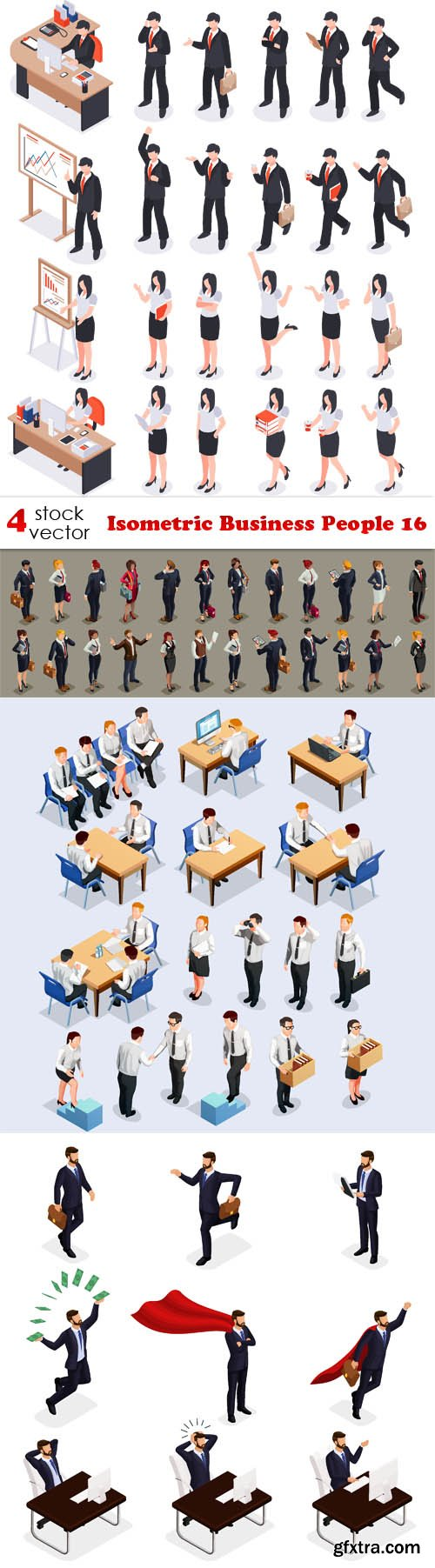 Vectors - Isometric Business People 16