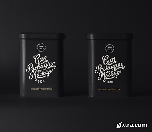 Psd Can Tin Packaging Mockup