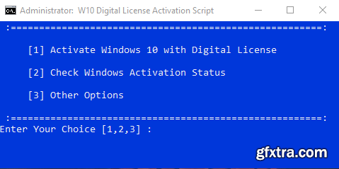 Windows 10 Digital License Activation Script 4.0