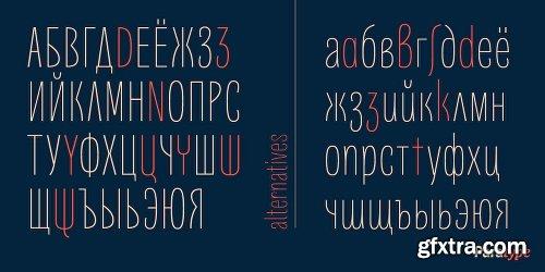 Quartal Font Family - 24 Fonts