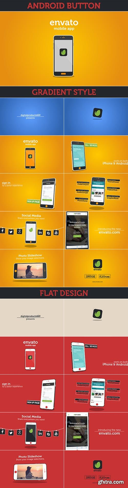 Videohive - New Mobile App Presentation - iOS & Android - 14865496