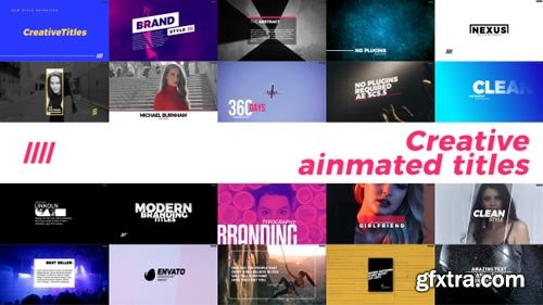 Videohive - Creative Animated Titles - 21373674