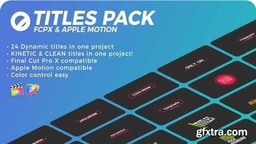 Videohive - Titles Pack | FCPX & Apple Motion - 21585978