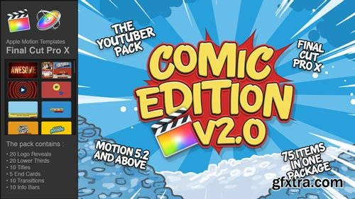 Videohive - The YouTuber Pack - Comic Edition V2.0 - Final Cut Pro X - 19694213