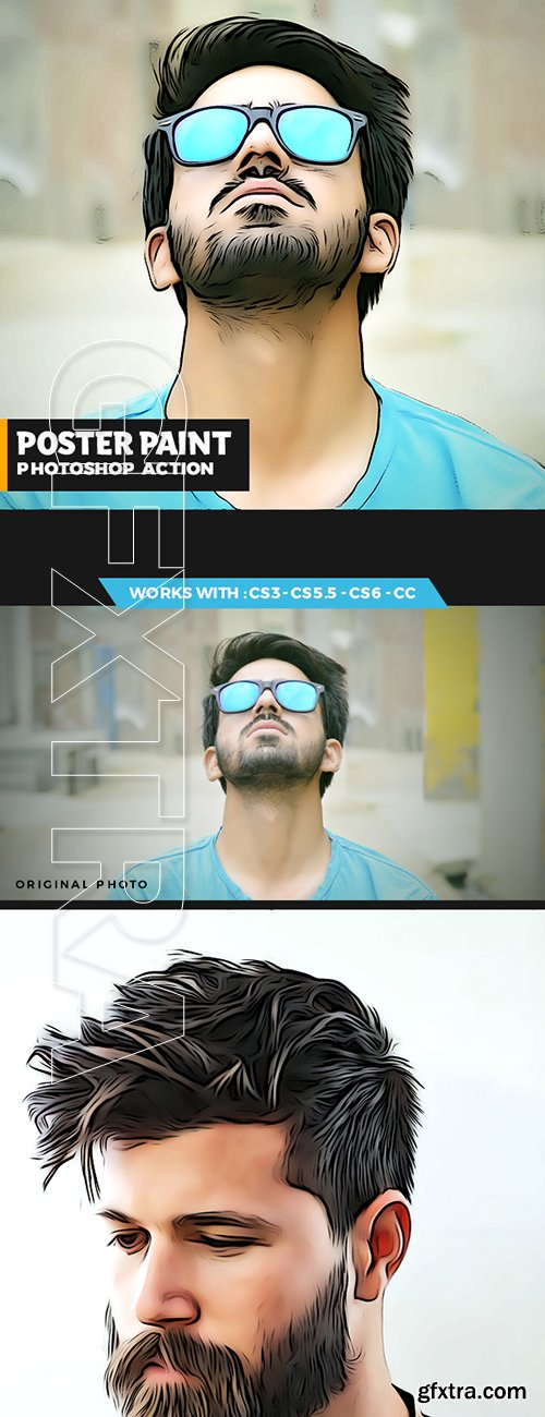 GraphicRiver - Poster Painting Photoshop Action 22239454