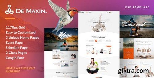 ThemeForest - De Maxin - Yoga PSD Template - 20468605