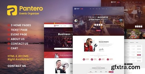 ThemeForest - Pantero - Event & Conference PSD Template - 20114977