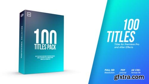 Videohive - Titles Pack - 22120299