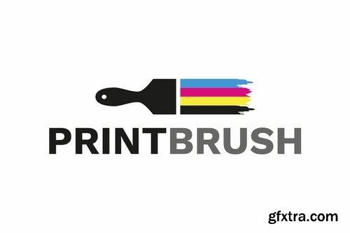 Print Brush - Logo Template